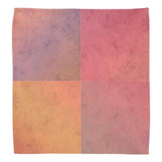 Modelo en colores pastel rosado de la acuarela del bandana