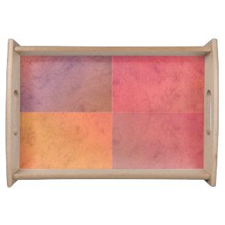 Modelo en colores pastel rosado de la acuarela del bandejas