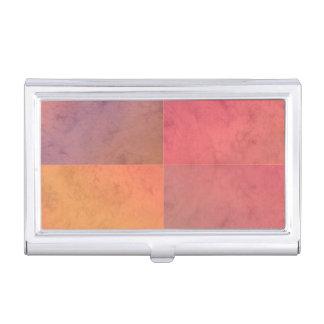 Modelo en colores pastel rosado de la acuarela del cajas de tarjetas de presentación