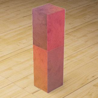 Modelo en colores pastel rosado de la acuarela del cajas para botellas de vino