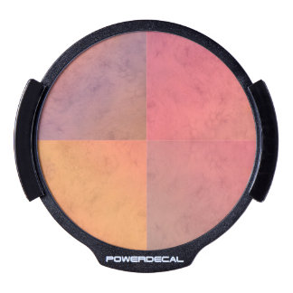 Modelo en colores pastel rosado de la acuarela del decal LED para ventana