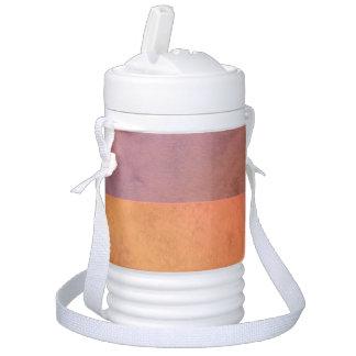 Modelo en colores pastel rosado de la acuarela del enfriador de bebida igloo