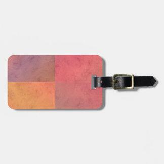 Modelo en colores pastel rosado de la acuarela del etiquetas de equipaje