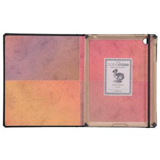 Modelo en colores pastel rosado de la acuarela del iPad protector