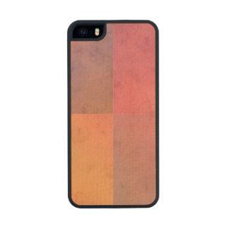 Modelo en colores pastel rosado de la acuarela del funda de arce carved® para iPhone 5 slim
