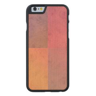 Modelo en colores pastel rosado de la acuarela del funda de iPhone 6 carved® de arce