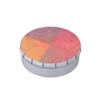 Modelo en colores pastel rosado de la acuarela del frascos de caramelos