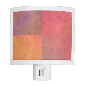 Modelo en colores pastel rosado de la acuarela del luces de noche