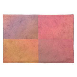 Modelo en colores pastel rosado de la acuarela del manteles individuales