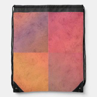 Modelo en colores pastel rosado de la acuarela del mochilas