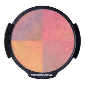 Modelo en colores pastel rosado de la acuarela del sticker LED para ventana
