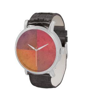 Modelo en colores pastel rosado de la acuarela del reloj de mano
