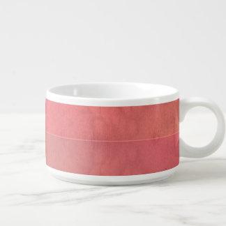 Modelo en colores pastel rosado de la acuarela del tazón