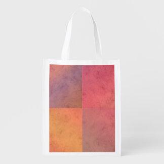 Modelo en colores pastel rosado de la acuarela del bolsa reutilizable