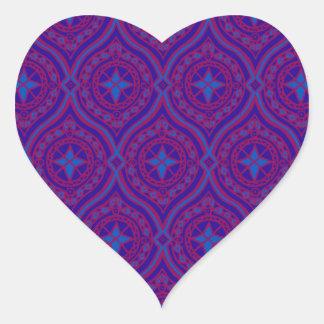 Modelo en forma de corazón de los pegatinas, pegatina en forma de corazón