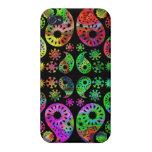 Modelo enrrollado colorido de Paisley iPhone 4/4S Carcasa
