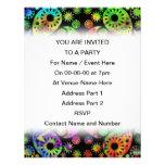 Modelo enrrollado colorido de Paisley Invitaciones Personalizada