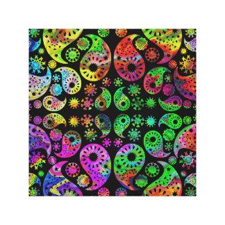 Modelo enrrollado colorido de Paisley Lona Estirada Galerias