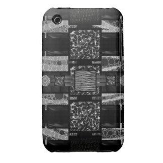 Modelo enrrollado de Blk&Wht de la cebra del iPhone 3 Case-Mate Carcasas