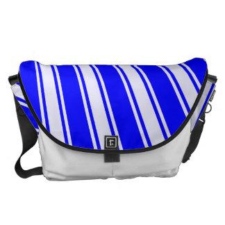 Modelo enrrollado de la raya azul del color bolsas de mensajería