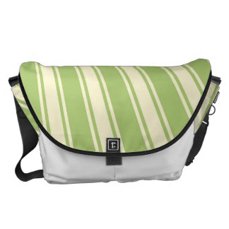 Modelo enrrollado de la raya de color verde bolsa de mensajeria