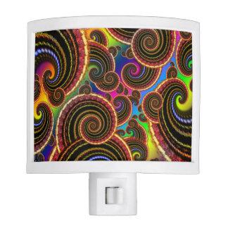 Modelo enrrollado del arte del fractal del remolin luz de noche