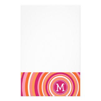 Modelo enrrollado del círculo con el monograma papeleria