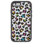 modelo enrrollado del leopardo del arco iris funda de iPhone 6 tough xtreme