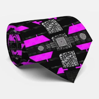 Modelo enrrollado del rosa de la cebra del corbata