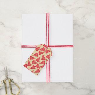 Modelo enrrollado fresco divertido de la pizza etiquetas para regalos