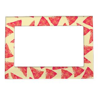 Modelo enrrollado fresco divertido de la pizza marcos magnéticos