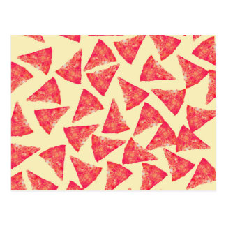 Modelo enrrollado fresco divertido de la pizza postales