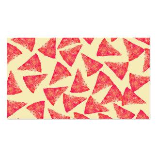 Modelo enrrollado fresco divertido de la pizza tarjetas de visita