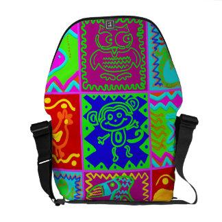 Modelo enrrollado intrépido colorido del remiendo  bolsa messenger