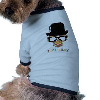 Modelo enrrollado isométrico del cubo del mono camiseta con mangas para perro