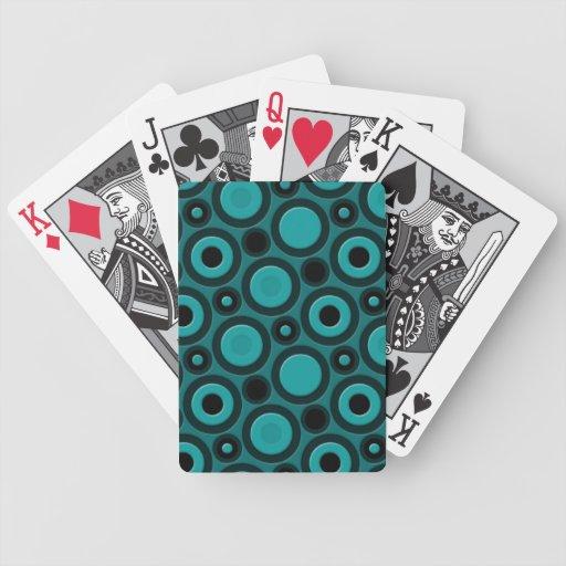 Modelo enrrollado retro 70s cartas de juego