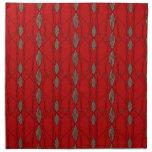 Modelo enrrollado rojo y beige servilleta de papel