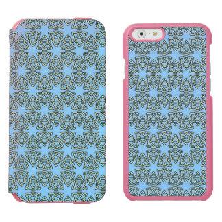 MODELO ENTRELAZADO en ~ azul Funda Billetera Para iPhone 6 Watson