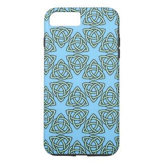 MODELO ENTRELAZADO en ~ azul Funda iPhone 7 Plus