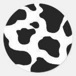 Modelo enturbiado blanco y negro de la impresión pegatina redonda
