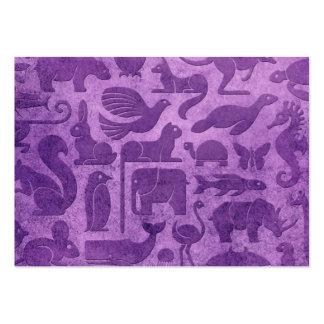 Modelo envejecido y llevado de la púrpura del rein tarjetas de visita grandes