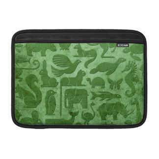 Modelo envejecido y llevado del verde del reino an fundas MacBook