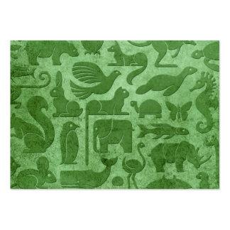 Modelo envejecido y llevado del verde del reino an tarjetas de visita grandes