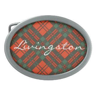 Modelo escocés del tartán de Livingston Hebillas Cinturon