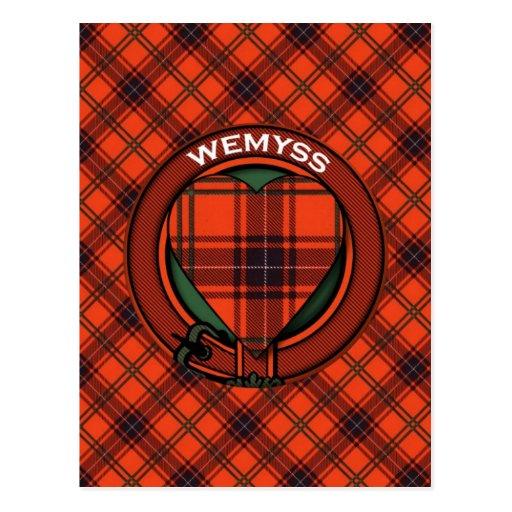 Modelo escocés del tartán de Wemyss de la postal