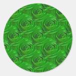Modelo esmeralda del papel pintado del centro del  pegatinas redondas