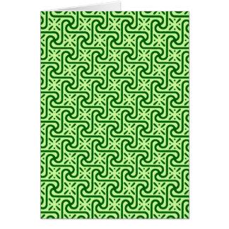 Modelo, esmeralda y verde lima egipcios de la teja tarjeta pequeña