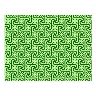Modelo, esmeralda y verde lima egipcios de la teja tarjetas postales