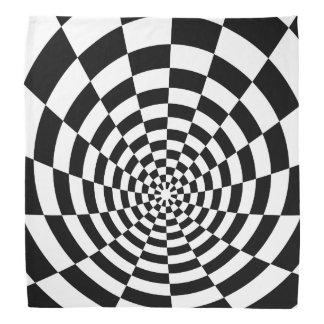 Modelo espacial a cuadros de la ilusión óptica bandana