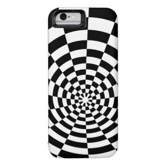 Modelo espacial a cuadros de la ilusión óptica funda iPhone 6